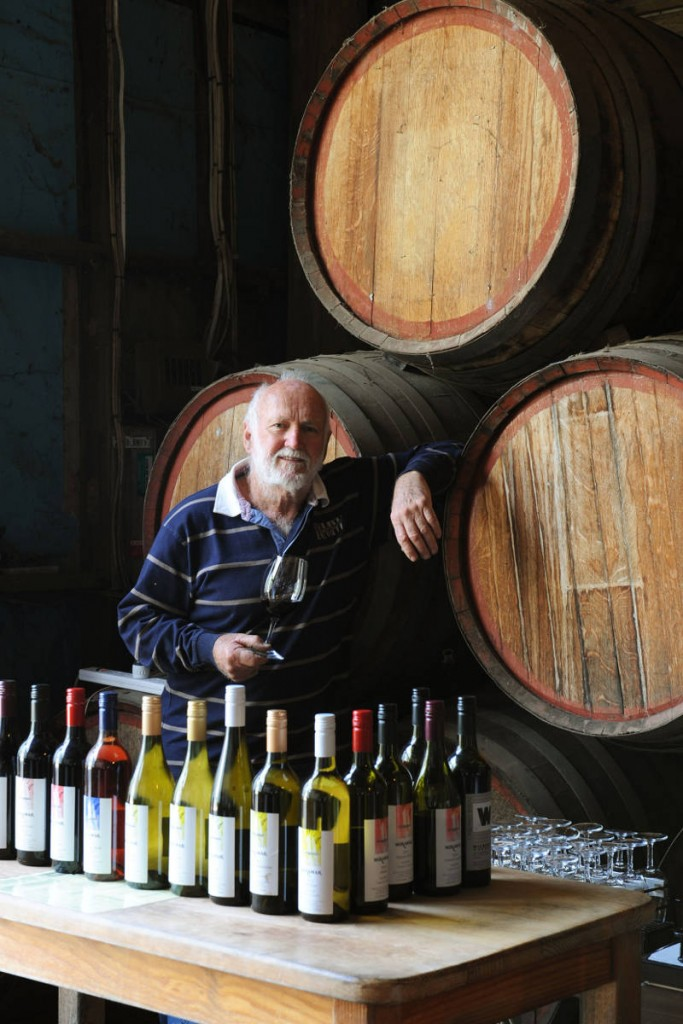 Ian MacRae - the man that makes the wines, built the winery.